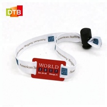 DTB Hot Sale High quality Fabric RFID Wristbands for Events