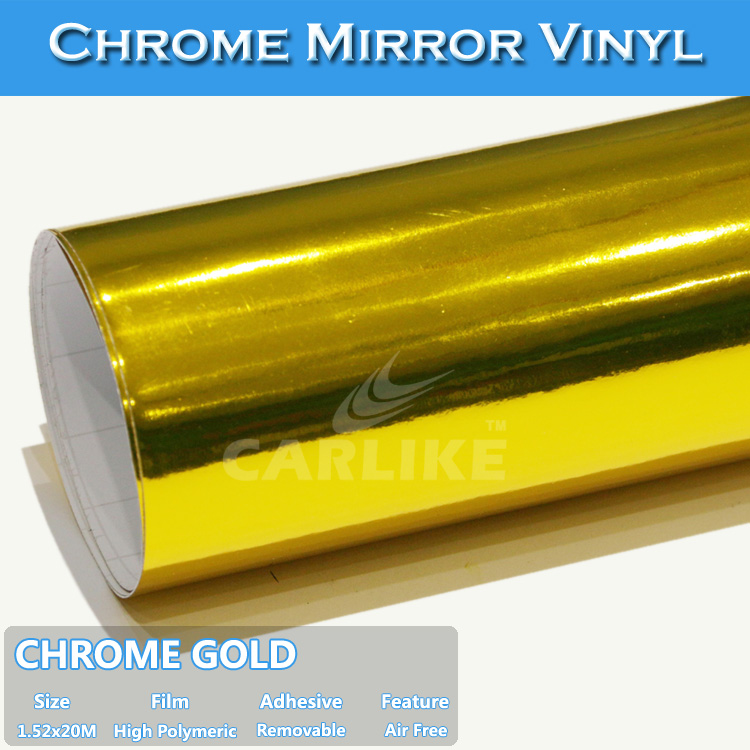 CARLIKE Fast Delivery Chrome Mirror Gold Color Changing Vinyl Sticker Car Body Film