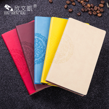 Promotional Stationery Custom Design A6 Colorful Pu Notebooks Diary