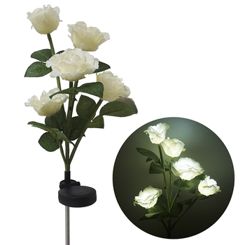Goede Waterpoof Zonne-energie Tuin LED Rose Bloem Licht
