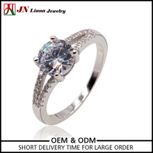 NYHR176 JNlinna S925 jewelry Manufacturer main stone cz 925 silver ring new model wedding ring