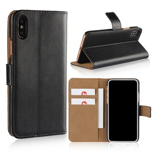 2018 hot sale genuine leather card holder stand flip mobile phone case for iPhone 6s 7 8 Plus X