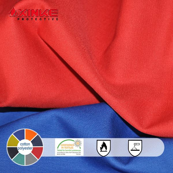 fire retandent material woven fabric for workwear