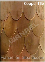 Factory sale copper roof, fiber glass roof tile,durable roof materials