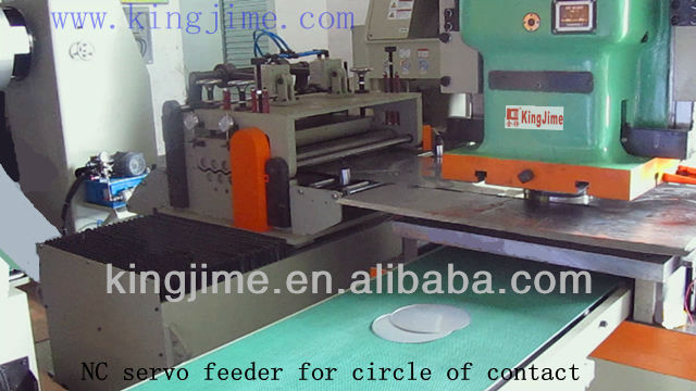 circle blanking machine by zig zag feed with uncoil and level