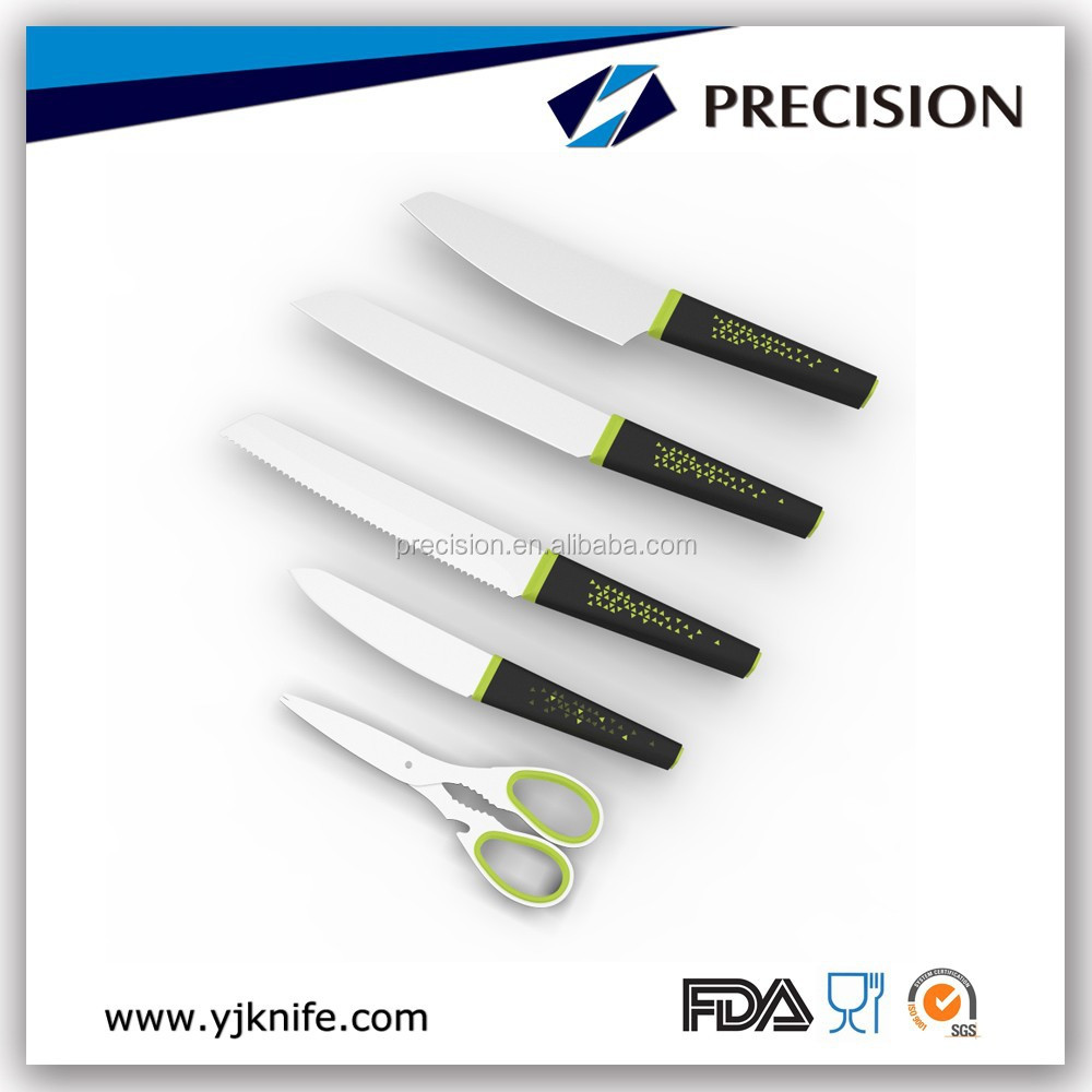 5pcs cooking knives Cutlery promotion knife scissors set