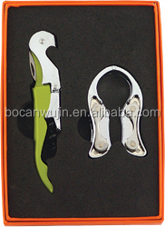 Stainless steel and zinc alloy wine tools sets with corkscrew,bottle opener set