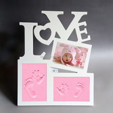 baby photo frame/baby handprint and footprint photo frame/New born baby gift