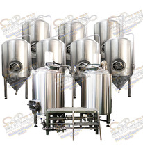 Turnkey Brewery Glycol Jacket Conical Beer Fermenter Micro Commercial Alcohol Brewing equipment