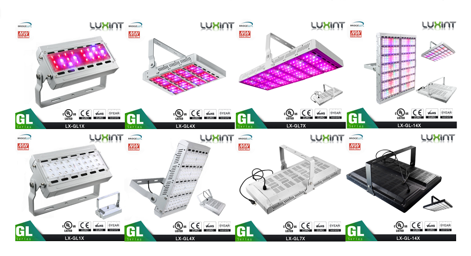 Kind led grow light LUXINT LX-GL 7X waterproof 500w full spectrum led grow light for cucumber growing