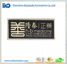 China manufacturer customized stainless steel logo sticker