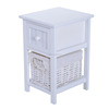 Wicker Storage Basket Wall Corner Wood