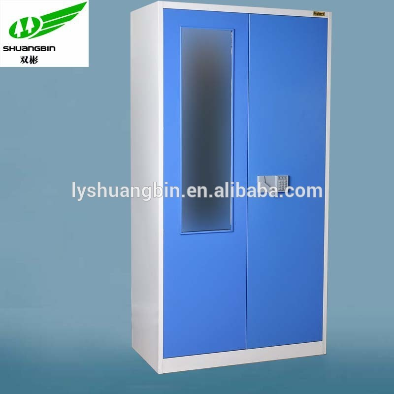 Best selling 2 door steel clothing locker/modern bedroom wardrobe locker with mirror