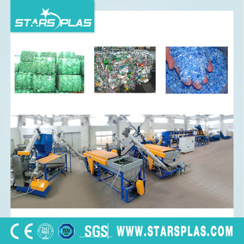 MT-1000 Plastic PET bottle flakes washing recycling line