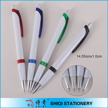 stationary white barrel ballpoint pen school supply imported from china