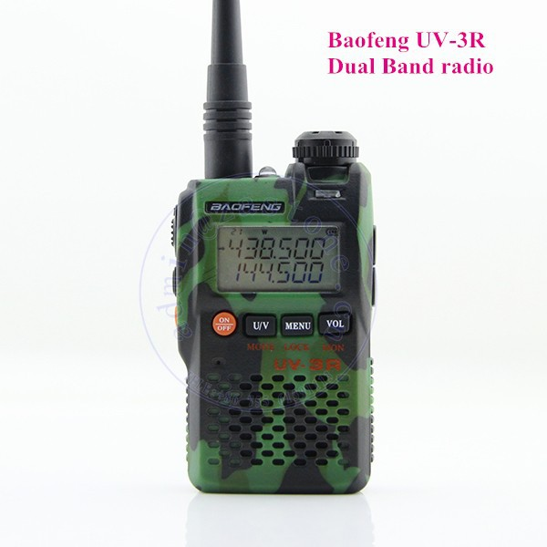 Dual Band Walkie Talkie BAOFENG UV-3R Ham Radio Transmitter Receiver With 2W Power Output