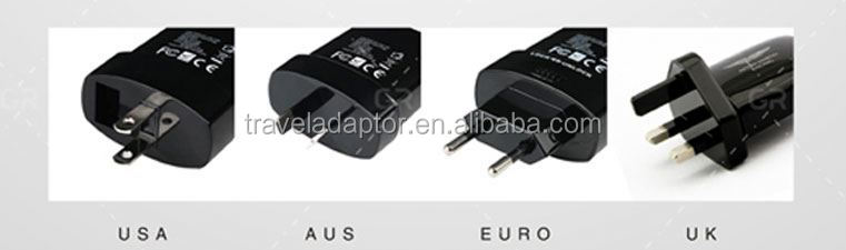 2014 Top Sale plug adapter 12v4 port usb wall charger fully CE ROHS FCC Approved (TC-001)