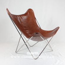 hardoy butterfly chair with stainless steel frame