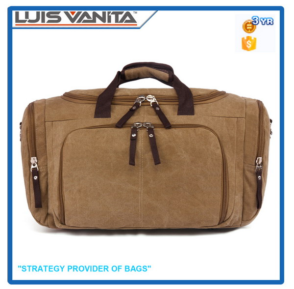 Brown Big Canvas Travel Bag for Men