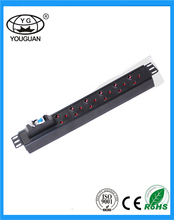 19 inch South Africa type 6 ways PDU for cabinet