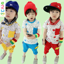Smiling Face Suit Clothing Sets Factories In China Children Business Suit