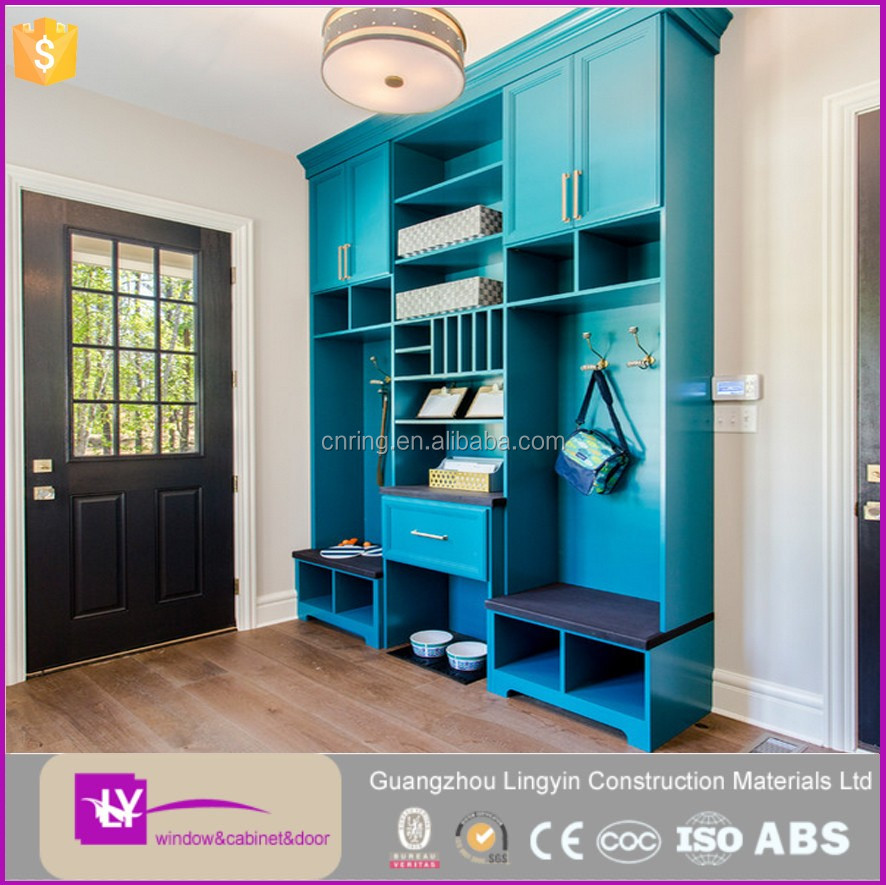 Lingyin traditional entryway furniture cabinet modern design in mud room