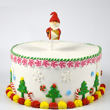 Yiwu Christmas Father Santa fashion shape fimo cake decorating supplies