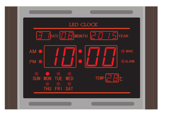 Best Price Digital Led Wall Clock With Calender And