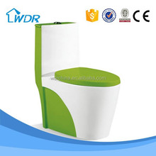 Sanitary quality colored made in China bidet adult western green toilet bowl price