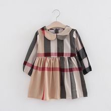 High Quality Girls Clothes Long-Sleeved Fall And Winter Plain Girl Party Dress baby girl dresses