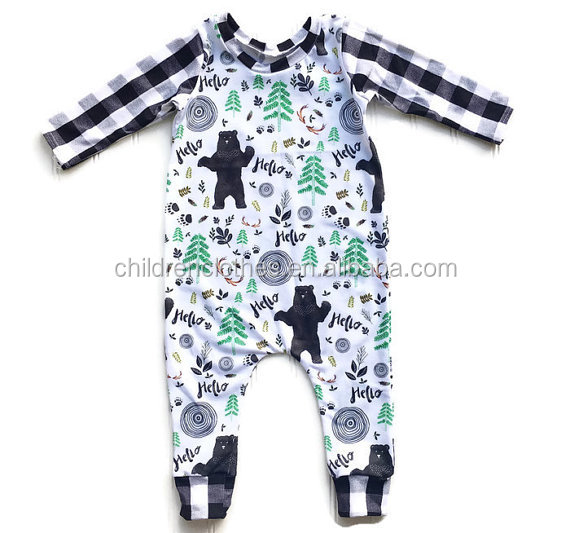 Tractor Romper Boutique Baby Products Baby Boy And Girl Wear Clothing Leggings With Special Pattern