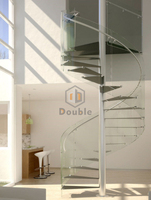 customized spiral staircase design glass spiral stairs
