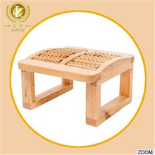 Foot relaxing stuff wooden massager stool cedar material
