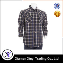 High Quality Wholesale Slim Fit Men 100% Cotton Lined Flannel Shirt