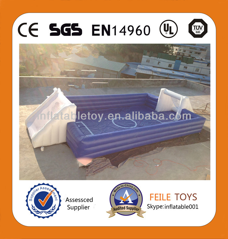 2014Exciting inflatable football pitch,inflatable sport field for kids and adults