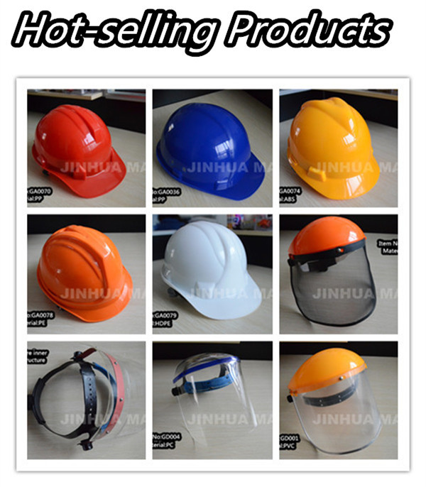 jinhua factor protective welding face shield with PVC face shield visor wholesale