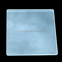 flat square tempered frosted square glass plate
