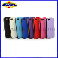 Laudtec New Coming Products Hot Selling Colorful Ultra Slim Leather Case For Apple Iphone 5c Flip Leather Phone Cover