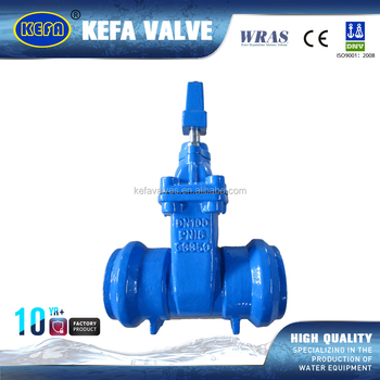 KEFA cast iron butt weld 6 inch gate valve