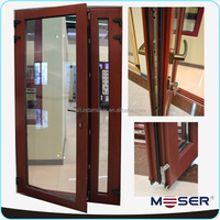 solid wood double glass exterior hinged french wood door