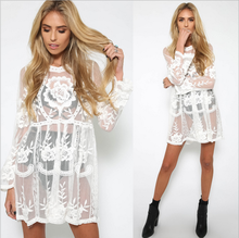 2018 summer fashion flower dress <strong>Lace</strong> Sexy Bikini <strong>Blouse</strong>