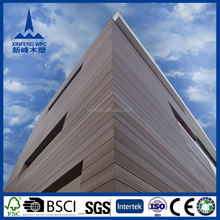 Durable outdoor WPC wall panel covering