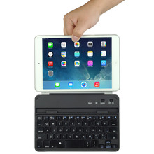 2015 New Product Ultra-thin Aluminum Magnetic Slot Wireless Bluetooth Keyboard For ipad Mini
