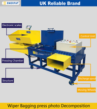 Scale Weighing Horizontal Bagging Baler with CE
