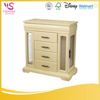 Low Cost High Quality white wood jewelry box