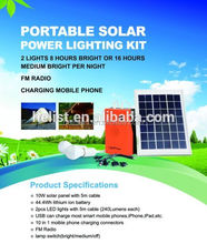 Home use Solar Rechargeable 10w portable solar power system
