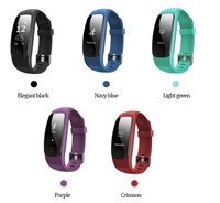 Smart ID107Plus HR Heart Rate Bracelet Monitor Wristband Health Fitness Tracking ID107 Plus For Android iOS Vs MI Band 2