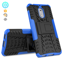 2017 Hot sale new hybrid kickstand tpu cover case for Nokia 6 cover