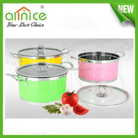 Colorful Stainless Steel Soup Pot / stockpot sets/cookware set