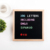 Home decoration 10 x 10 felt letter board in stock